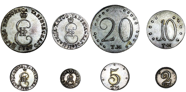 «Таврические монеты» 1787года. Источник:RARCOIN