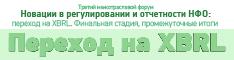«Новации в регулировании и отчетности НФО: переход XBRL. Финальная стадия, промежуточные итоги»