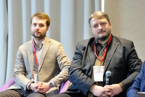 Иван Беров, Ассоциация ФинТех и Андрей Емелин, НСФР. Фото Альберт Тахавиев / Finarty