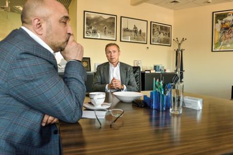 Эльман Мехтиев, АРБ и Алексей Панферов, Совкомбанк. Фото: Михаил Бибичков / «Б.О»