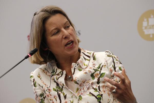 Стефани Фландерс, Bloomberg Economics. Фото: Сергей Карпухин/фотохост-агентство ТАСС