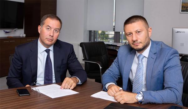 Дмитрий Голованов, МСП Банк и Павел Самиев, «БизнесДром». Фото: Елена Сычева / «Б.О»